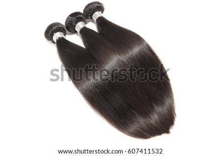 Silky straight black virgin remy human hair extension bundles