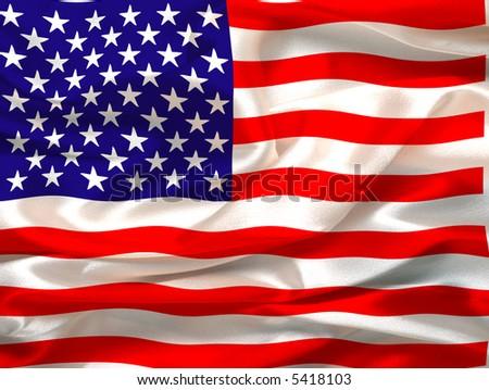 Silky Us flag