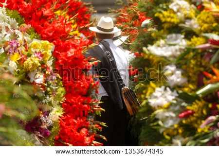 Silleteros Parade, Flower Fair, Medellin, Antioquia, Colombia #1353674345
