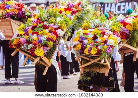 Silleteros Parade in Medellin, Colombia