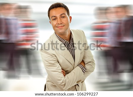 silly young business man portrait looking