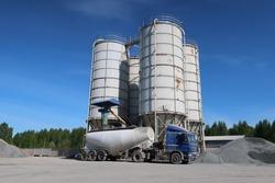 silos cement tank wagon industry storage