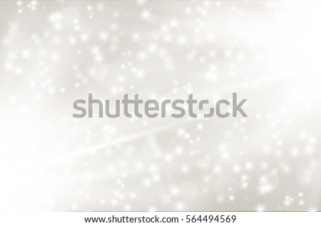 Silver abstract background with shiny rays and stars - illustration