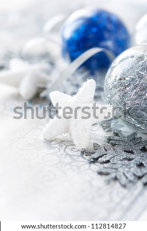 Silver and blue xmas decoration