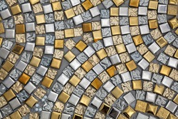 Silver and gold surfaces.