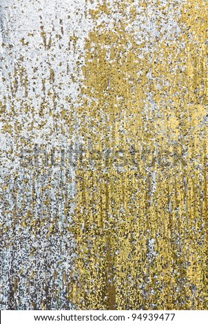 Silver and golden sequin backdrop