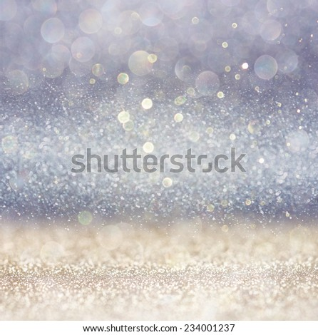 silver and white bokeh lights defocused. abstract background  - Shutterstock ID 234001237
