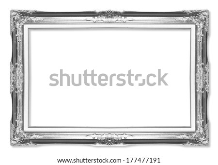 The antique frame isolated on white background | EZ Canvas