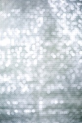 Silver bokeh abstract background copy space