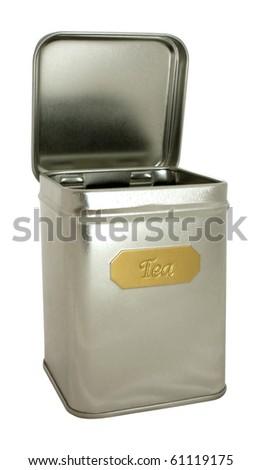 Silver box for tea
