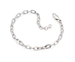 Silver Bracelet isolated on white background