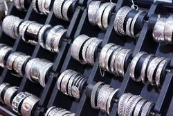 Silver bracelets on the arabic market, Oman