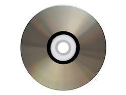 Silver cdrom isolated
