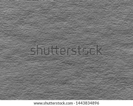 Silver Charcoal Gray Paper Closeup.  Grey backdrop for an advertising message or ad  template. #1443834896