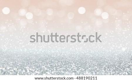Silver christmas and bokeh lights with diamond from glitter background #488190211