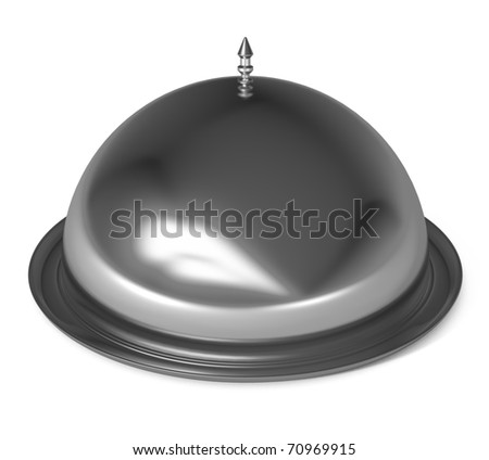 Silver Cloche Isolated on white - 3d illustration