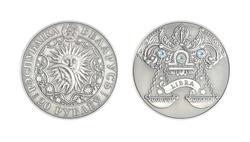 Silver coin Astrological sign Libra