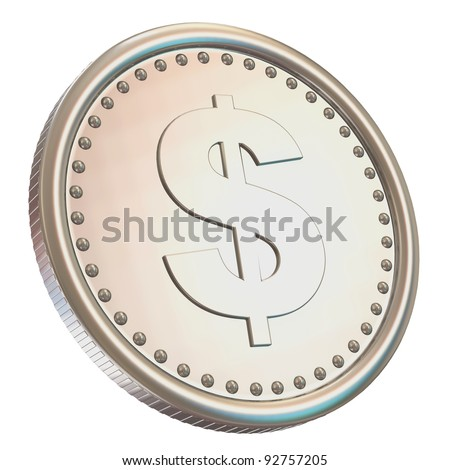 Silver Coin Isolated on white background