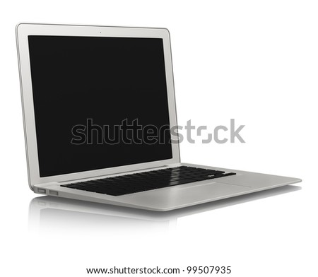silver color stylish laptop