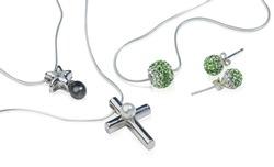 Silver Cross and diamond jewelry
