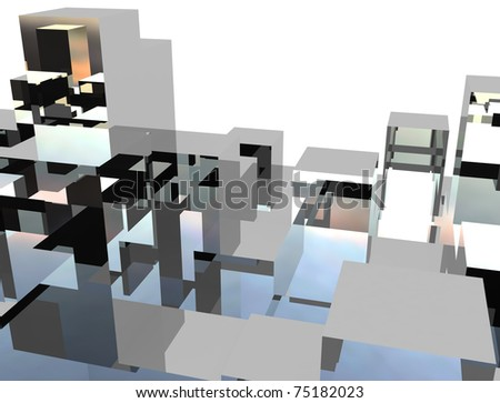 silver cubic metal background theme