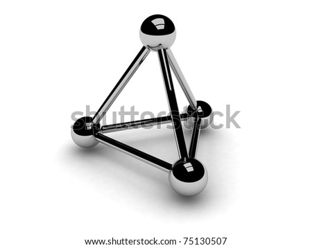 3D Carbon Atom http://www.shutterstock.com/pic-75130507/stock-photo-silver-d-model-of-carbon-atom.html
