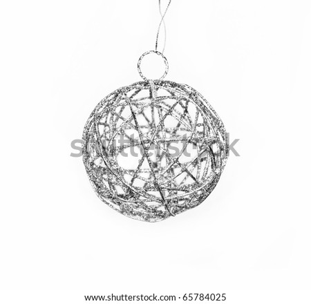 Silver decoration ball for cristmas tree