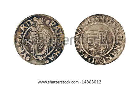 silver denar depicting Madonna and child, Ferdinand I (1521-1564), Holy Roman Emperor
