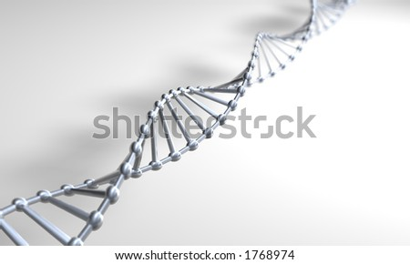 Silver DNA on a white surface