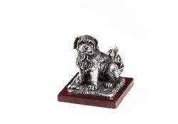 silver dog figurine