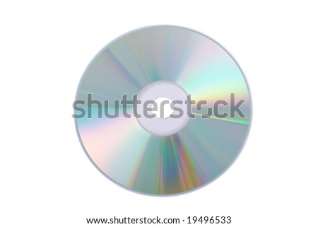 Silver DVD isolated on a white background