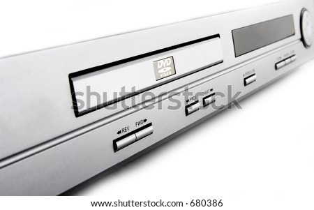 Silver DVD player