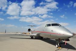 Silver Executive Jet