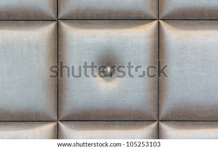 Silver fabric buttoned  background pattern