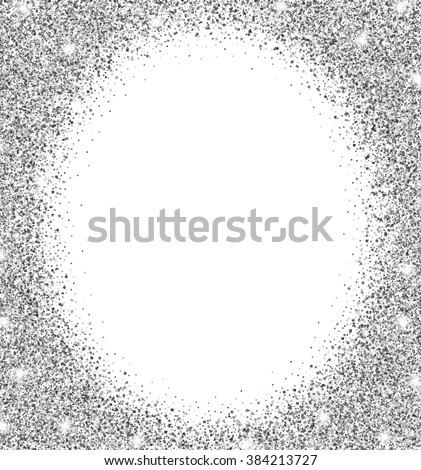 Royalty-free Silver glitter frame with white… #356804714 Stock Photo ...