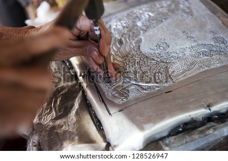 Silver handicrafts of Thai Lanna