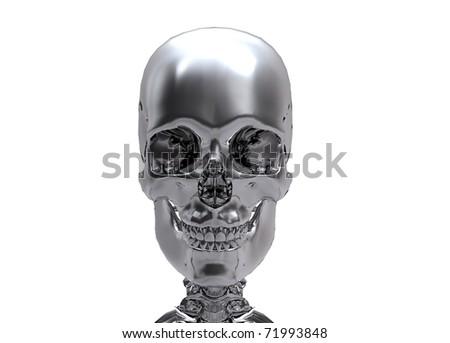 silver Human skull