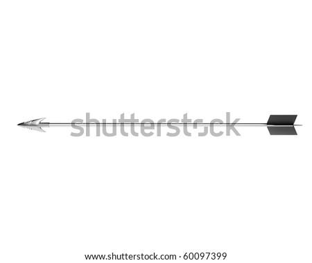silver hunting arrow