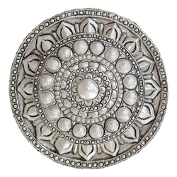 Silver lacquer Show flower art balance Global Crafts Thai artists. Place in Chiang Mai, Thailand.