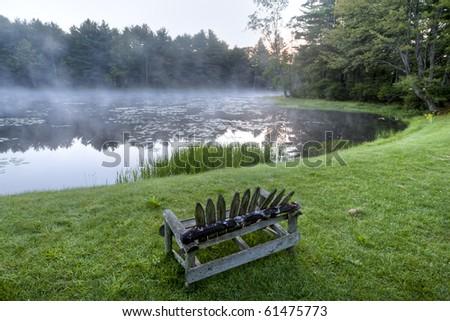 Silver Lake at dawn in upstate New York City