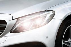 silver lamp of car