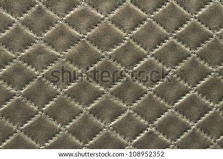 Silver leather background rhombus pattern