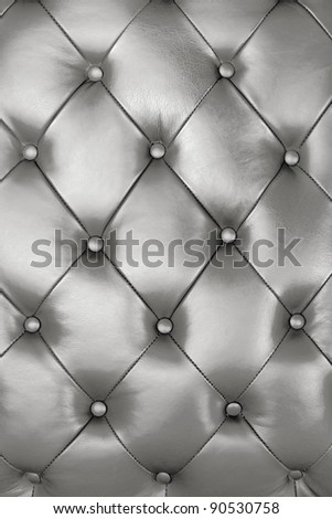 Silver leather texture decorate background - stock photo
