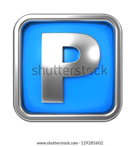 Blue Background - Letter P  P Logo With Blue Background