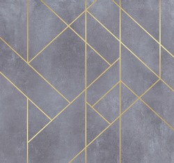 Silver lines on dirty beige plaster texture, Abstract decoration, golden pattern. Picture for wallpaper or background. Black, white, blue, gold waves Cover template, geometric shapes, modern minimal