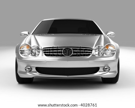 Silver Mercedes SL 500