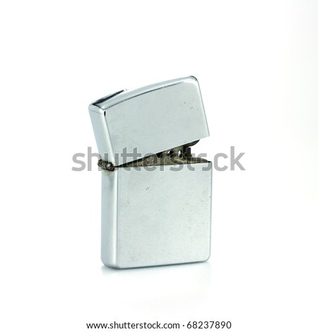 Silver metal lighter