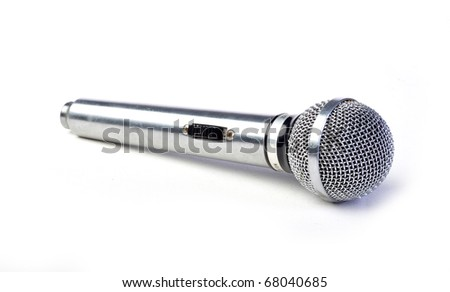 silver mic isolated on white