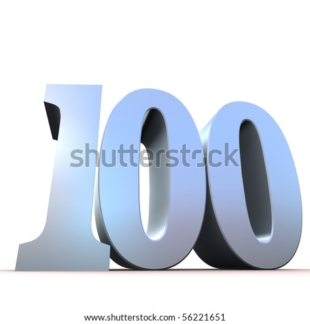 silver number - 100