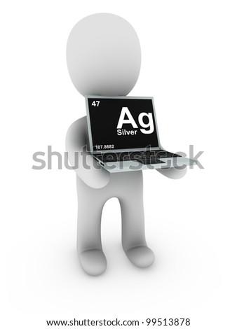 silver on screen laptop